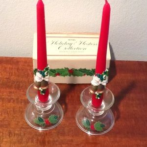 Vintage holiday candles